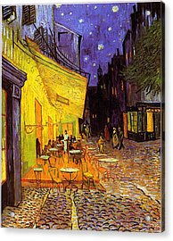 Acrylic Print featuring the painting Cafe Terrace At Night by Van Gogh