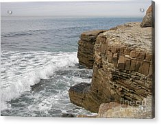 Acrylic Print featuring the photograph California Seascape by Carol  Bradley