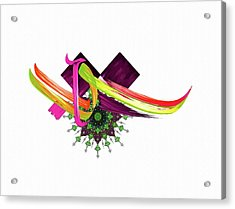 Calligraphy 30 4 Acrylic Print by Mawra Tahreem