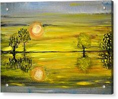 Calmness Acrylic Print by Evelina Popilian