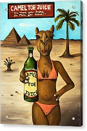 Camel Toe Juice Acrylic Print by Leah Saulnier The Painting Maniac