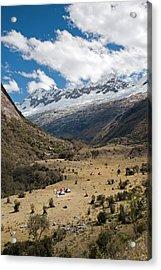 Camping In Huaripampa Valley Acrylic Print