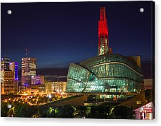 Canadian Museum For Human Rights Acrylic Print by Bryan Scott