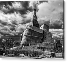 Canadian Museum For Human Rights Acrylic Print by Tom Gort