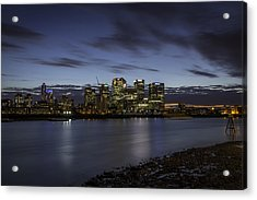 Acrylic Print featuring the photograph Canary Wharf by Ryan Photography