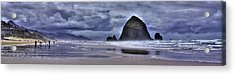 Cannon Beach Panorama Acrylic Print by David Patterson