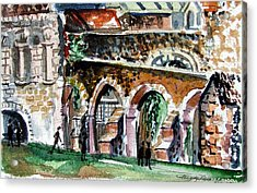 Canterbury England Cloisters Acrylic Print by Mindy Newman