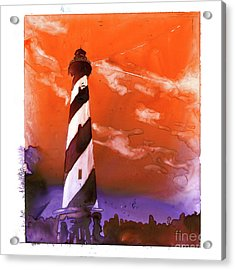 Acrylic Print featuring the painting Cape Hatteras Lighthouse by Ryan Fox