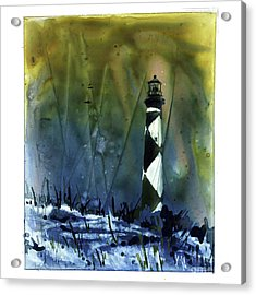 Acrylic Print featuring the mixed media Cape Lookout Lighthouse by Ryan Fox
