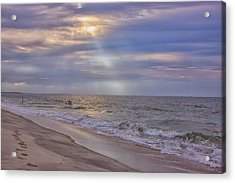 Cape May Beach Acrylic Print by Tom Singleton