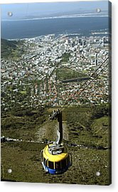 Capetown Cablecar Acrylic Print by Charles  Ridgway