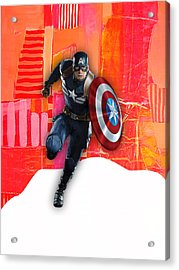 Captain America Collection Acrylic Print by Marvin Blaine