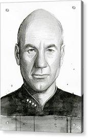 Captain Picard Acrylic Print