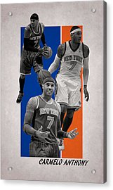 Carmelo Anthony New York Knicks Acrylic Print by Joe Hamilton