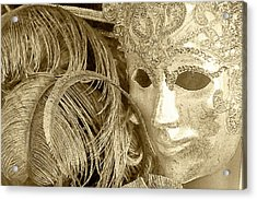 Acrylic Print featuring the photograph Carnival Mask by John Hix