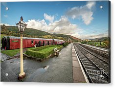 Acrylic Print featuring the photograph Carrog Railway Station by Adrian Evans