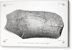 Carved Mammoth Tusk, 1865 Acrylic Print