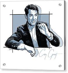 Cary Grant Acrylic Print by Greg Joens