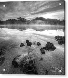 Cascades In Black And White Acrylic Print by Twenty Two North Photography