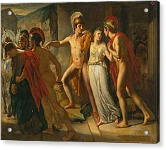 Castor And Pollux Rescuing Helen Acrylic Print by Jean-Bruno Gassies