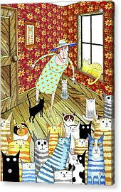 Cat Lady  Acrylic Print by Andrew Hitchen