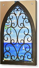 Acrylic Print featuring the painting Cathedral View by Mary Scott