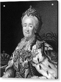 Catherine The Great, Empress Of Russia Acrylic Print by Middle Temple Library