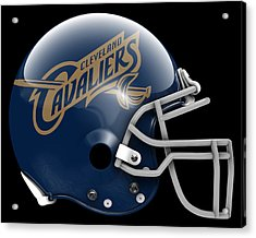 Cavaliers What If Its Football Acrylic Print