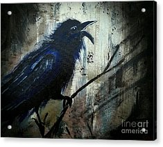 Cawing The Storm Acrylic Print