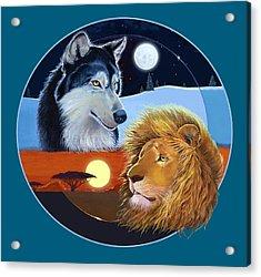 Celestial Kings Circular Acrylic Print