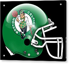 Celtics What If Its Football Acrylic Print by Joe Hamilton