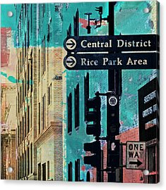 Acrylic Print featuring the photograph Central District by Susan Stone