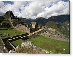 Central Plaza At Machu Picchu Acrylic Print by Aidan Moran