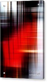 Chaises Rouges Acrylic Print by John Rizzuto