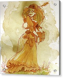Chamomile Acrylic Print by Brian Kesinger