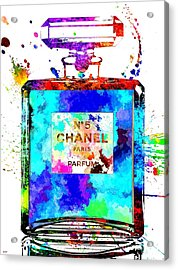 Chanel No. 5 Grunge Acrylic Print by Daniel Janda