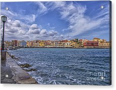 Chania On Crete In Greece Acrylic Print by Patricia Hofmeester
