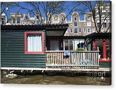 Channels Of Amsterdam Acrylic Print by Andre Goncalves