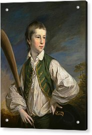 Charles Collyer As A Boy, With A Cricket Bat Acrylic Print