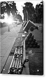 Charleston Battery Sunset Acrylic Print by Dustin K Ryan