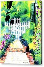 Charleston Gate Acrylic Print by Melody Allen