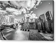 Charlotte North Carolina Black And White Photo Acrylic Print by Paul Velgos