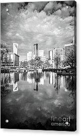 Charlotte Skyline Reflection On Marshall Park Pond Acrylic Print