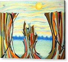 Chasm Acrylic Print by Sharon Blanchard