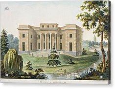 Chateau At Vinderhaute Acrylic Print by Pierre Jacques Goetghebuer