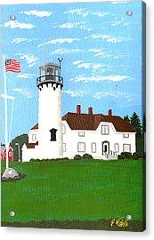Chatham Lighthouse Painting Acrylic Print by Frederic Kohli