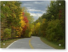 Cherohala Skyway In Autumn Color Acrylic Print by Darrell Young