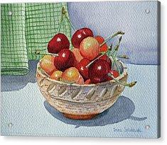 Cherries Acrylic Print by Irina Sztukowski
