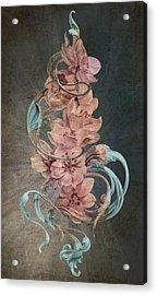 Cherry Blossoms On Blue Acrylic Print by Irina Effa