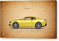 Chevrolet Camaro Acrylic Print by Mark Rogan